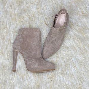 ZARA | Suede Stiletto Ankle Boots  Sz 10
